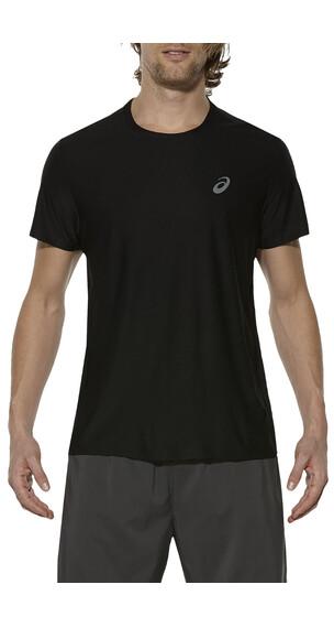 asics SS Top hardloopshirt Heren zwart